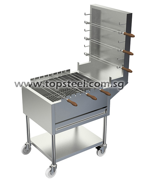 BBQ Chicken Wing Stove C/W Skewers