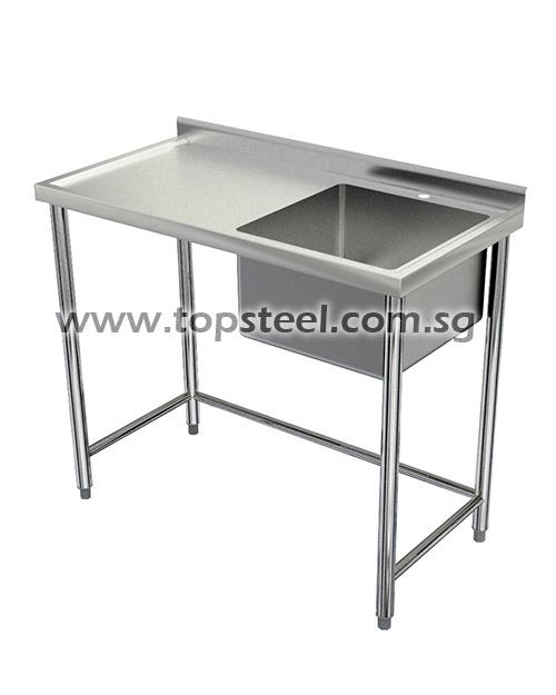Single Bowl Sink Table With Worktop