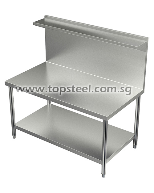 Cooking Table With Top & Bottom Shelf